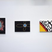 Installation view of paintings